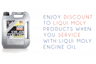 Liqui Moly Car Servicing Purchase with Purchase Promotions!